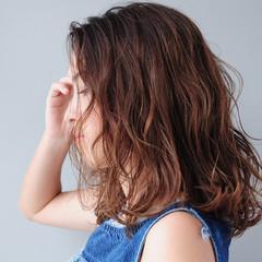 無造作パーマ ナチュラル N.オイル クール ヘアスタイルや髪型の写真・画像