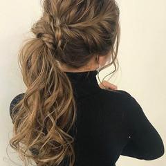 エレガント ヘアセット 結婚式ヘアアレンジ ヘアアレンジ ヘアスタイルや髪型の写真・画像