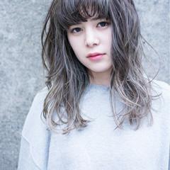 ストリート 外国人風 グラデーションカラー ブルージュ ヘアスタイルや髪型の写真・画像
