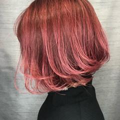 ベリーピンク 大人カジュアル モテボブ ガーリー ヘアスタイルや髪型の写真・画像
