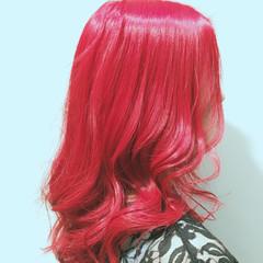 ラベンダーピンク ガーリー ロング ラベンダーアッシュ ヘアスタイルや髪型の写真・画像