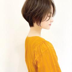 ショート マッシュショート ナチュラル ショートヘア ヘアスタイルや髪型の写真・画像