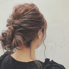 女子会 秋 ミディアム 簡単ヘアアレンジ ヘアスタイルや髪型の写真・画像