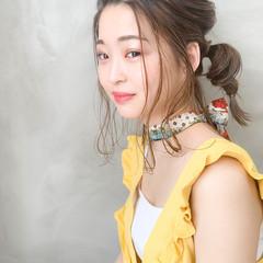 くるりんぱ ナチュラル デート ヘアアレンジ ヘアスタイルや髪型の写真・画像