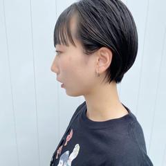 ショートヘア ショート 小顔ショート ニュアンスヘア ヘアスタイルや髪型の写真・画像