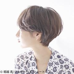 ナチュラル ショート ショートヘア パーマ ヘアスタイルや髪型の写真・画像