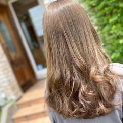 イルミナカラー ミルクティーベージュ 髪質改善 エレガント ヘアスタイルや髪型の写真・画像
