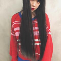 フェミニン 大人女子 かっこいい ロング ヘアスタイルや髪型の写真・画像