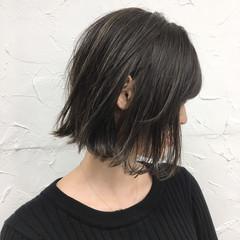 ボブ 透明感 秋 ハイライト ヘアスタイルや髪型の写真・画像