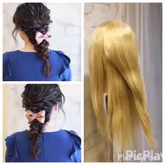 ロング ヘアアレンジ ゆるふわ 簡単ヘアアレンジ ヘアスタイルや髪型の写真・画像