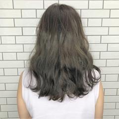 波ウェーブ 透明感 セミロング オリージュ ヘアスタイルや髪型の写真・画像