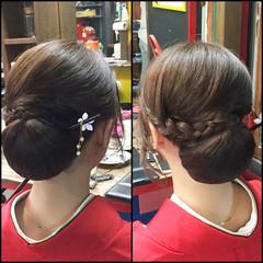 セミロング ヘアアレンジ アップスタイル 着物 ヘアスタイルや髪型の写真・画像