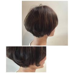 ナチュラル アッシュ ボブ ヘアアレンジ ヘアスタイルや髪型の写真・画像