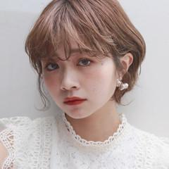 ガーリー 韓国 マッシュショート 韓国ヘア ヘアスタイルや髪型の写真・画像