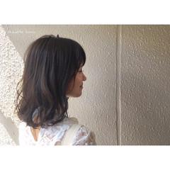 大人かわいい ロブ リラックス ミディアム ヘアスタイルや髪型の写真・画像