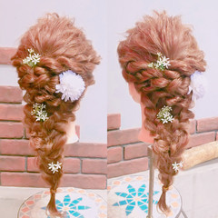 ヘアアレンジ デート 編み込み 女子会 ヘアスタイルや髪型の写真・画像