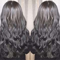大人かわいい ロング ハイライト 外国人風 ヘアスタイルや髪型の写真・画像