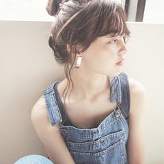 簡単ヘアアレンジ フレンチセピアアッシュ ロング 外国人風 ヘアスタイルや髪型の写真・画像