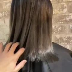 外国人風 ブリーチ ミディアム ナチュラル ヘアスタイルや髪型の写真・画像