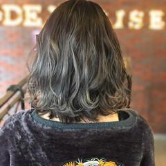 グラデーションカラー ボブ ストリート 暗髪 ヘアスタイルや髪型の写真・画像