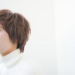小顔 ゆるふわ 外国人風 ショート ヘアスタイルや髪型の写真・画像