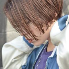 ウェットヘア ボブ ストリート ショート ヘアスタイルや髪型の写真・画像