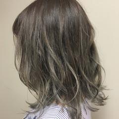 ナチュラル 抜け感 夏 ミディアム ヘアスタイルや髪型の写真・画像