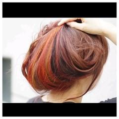 ヘアアレンジ インナーカラー ロング グラデーションカラー ヘアスタイルや髪型の写真・画像