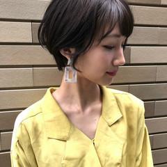 ベリーショート フェミニン ショートボブ ショート ヘアスタイルや髪型の写真・画像