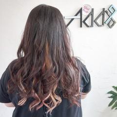 デジタルパーマ フェミニン バレイヤージュ ロング ヘアスタイルや髪型の写真・画像