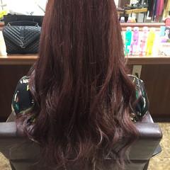 外国人風カラー ベリーピンク ピンク ロング ヘアスタイルや髪型の写真・画像