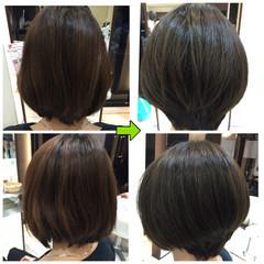 ナチュラル 艶髪 ショート 小顔 ヘアスタイルや髪型の写真・画像