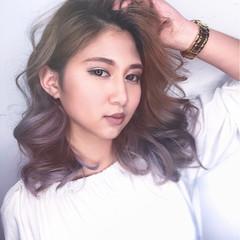 アッシュ 外国人風 ハイライト 上品 ヘアスタイルや髪型の写真・画像