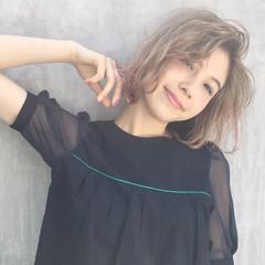 外国人風 ストリート 外国人風カラー ボブ ヘアスタイルや髪型の写真・画像