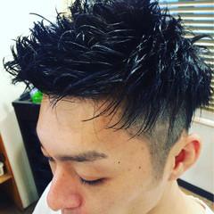 メンズ 坊主 黒髪 パーマ ヘアスタイルや髪型の写真・画像