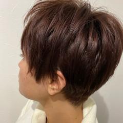 ガーリー ベリーショート ウルフカット ショートボブ ヘアスタイルや髪型の写真・画像
