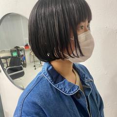 ミニボブ ナチュラル 大人女子 ショートヘア ヘアスタイルや髪型の写真・画像