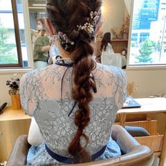 ヘアアレンジ ガーリー ヘアセット 結婚式ヘアアレンジ ヘアスタイルや髪型の写真・画像