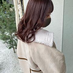 ミディアム オルチャン エレガント 艶髪 ヘアスタイルや髪型の写真・画像