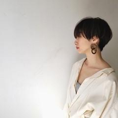 大人女子 モード 大人かわいい ショート ヘアスタイルや髪型の写真・画像