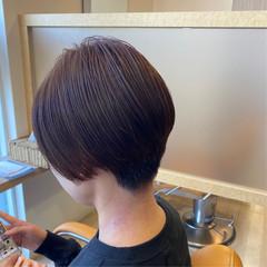 耳掛けショート ショート ショートヘア 大人可愛い ヘアスタイルや髪型の写真・画像