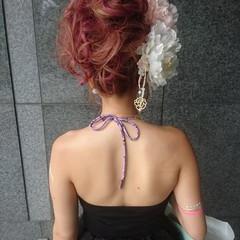 エレガント パーティ セミロング 外国人風 ヘアスタイルや髪型の写真・画像