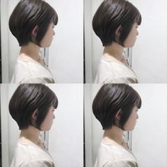ショートボブ シアーベージュ ナチュラル ショート ヘアスタイルや髪型の写真・画像