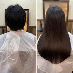 バレイヤージュ 外国人風カラー エクステ ヘアアレンジ ヘアスタイルや髪型の写真・画像