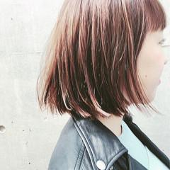 ナチュラル 大人かわいい グラデーションカラー ボブ ヘアスタイルや髪型の写真・画像