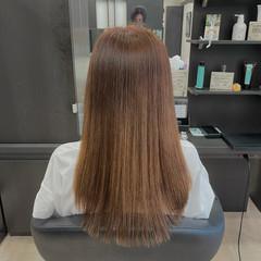 超音波 髪質改善カラー ナチュラル 髪質改善 ヘアスタイルや髪型の写真・画像
