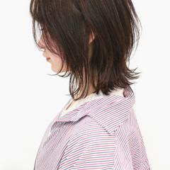 ウルフカット ラベンダーピンク ハイライト ボブ ヘアスタイルや髪型の写真・画像