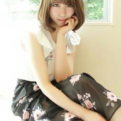 大人女子 ロブ ナチュラル 大人かわいい ヘアスタイルや髪型の写真・画像
