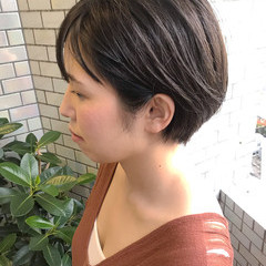 ヘアアレンジ ナチュラル ショート オフィス ヘアスタイルや髪型の写真・画像