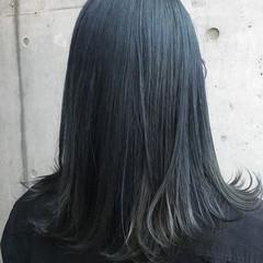 ブルー ストリート ネイビーアッシュ 暗髪 ヘアスタイルや髪型の写真・画像